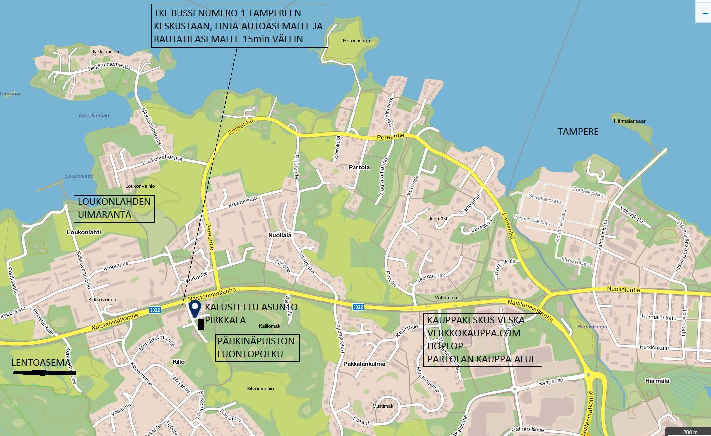 Kartta Pahkinapuisto Kalustettu Asunto Pirkkala